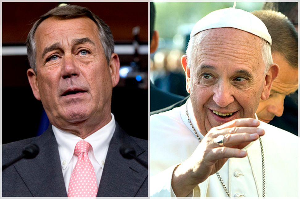 The pope rebukes the GOP: The real story behind Boehner's departure and the right's assault on American values   Salon.com