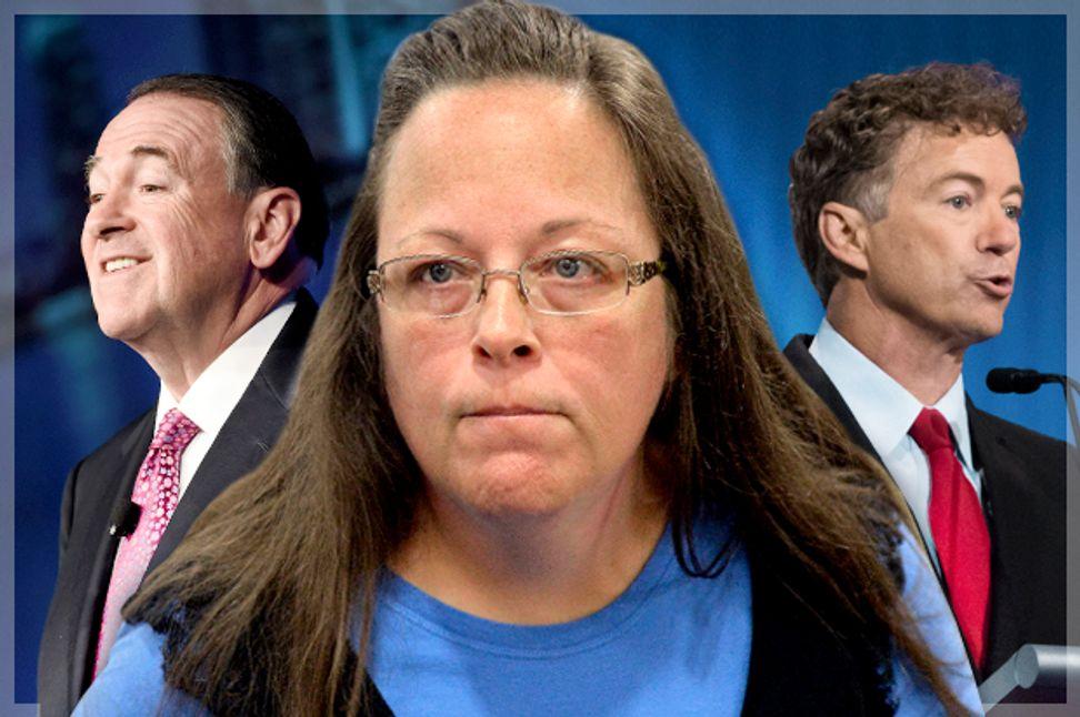 Republicans vs. the Constitution: Would-be presidents endorse Kim Davis' brazen illegality