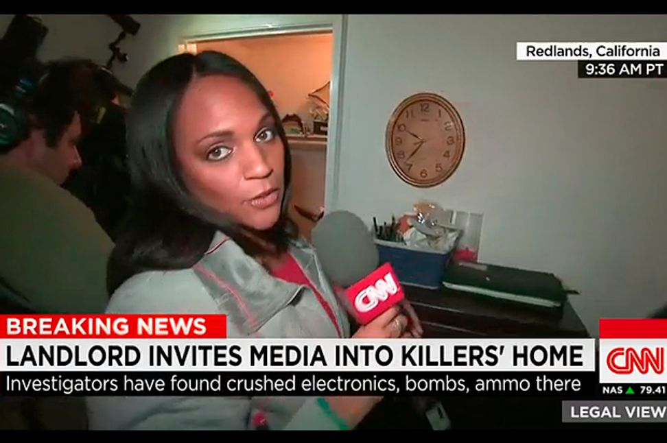 Excavating horror, live on TV: Reporters swarm San Bernardino killers' apartment and dig through their stuff