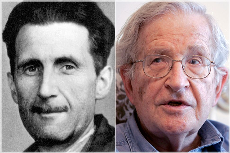 Our George Orwell/Noam Chomsky paradox: Let's decipher the doublethink media and government peddles about U.S. foreign policy