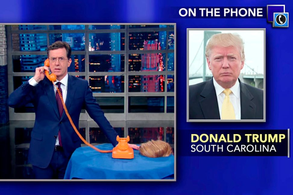 Donald Trump is bulletproof: Why his call to Colbert last night should scare the left