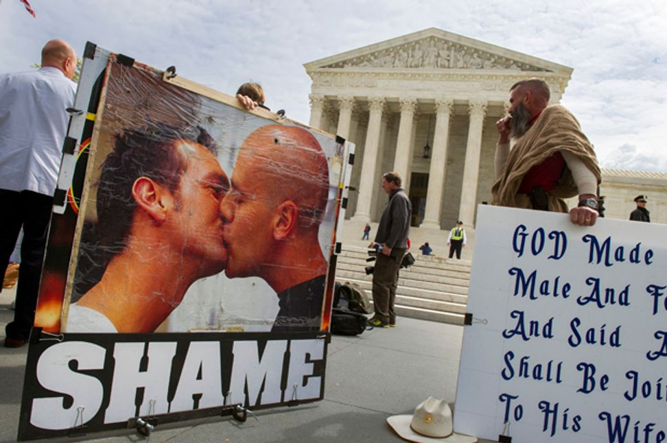 A conservative legal group's chief mission is banning homosexuality, report says