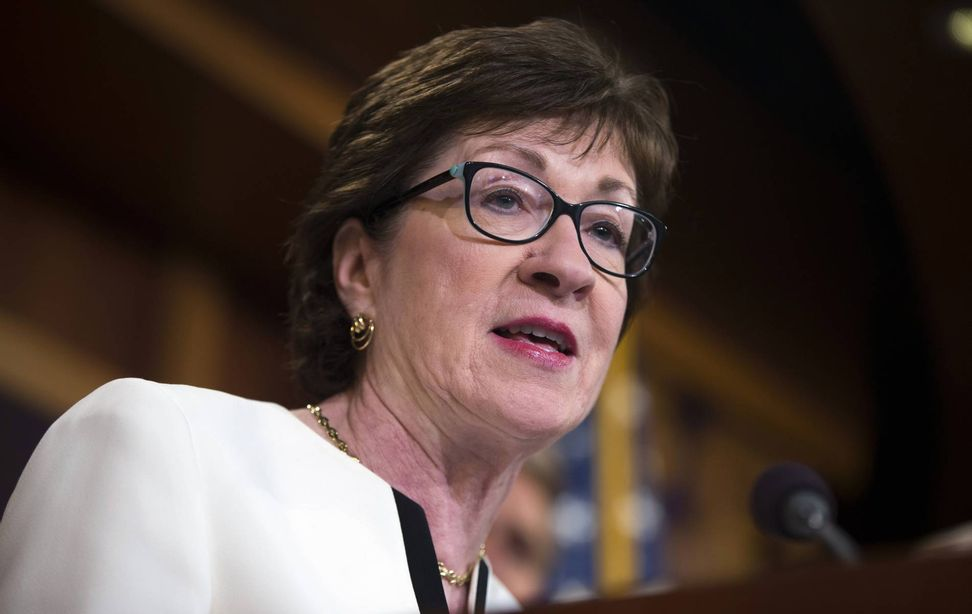 Susan Collins is in a race for her political career, and she does not even have an opponent yet