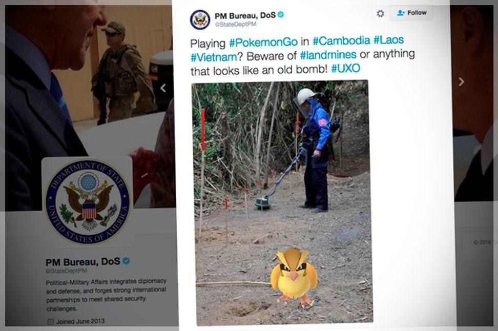 U.S. State Dept. Pokémon Go tweet about unexploded bombs sparks backlash