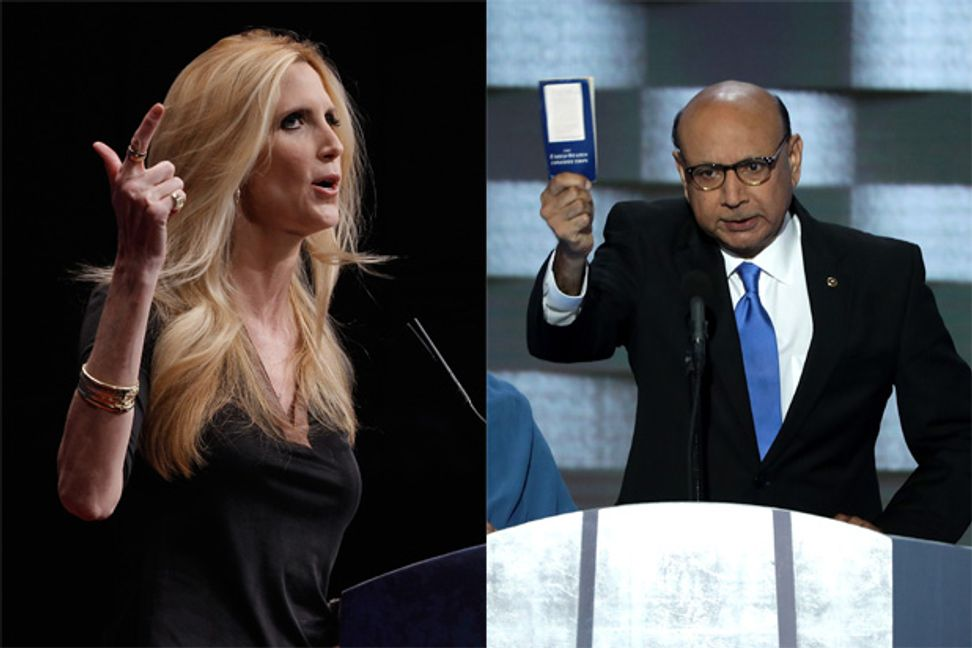 """Ann Coulter just won't let the Khzir Khan feud end for Trump: America shouldn't be lectured by a """"snarling Muslim"""""""