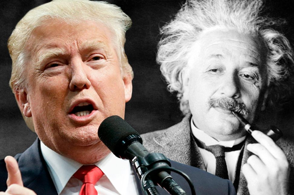 Trump's no Einstein: But his ignorant, illiterate answers to the campaign science quiz reflect a non-stupid strategy