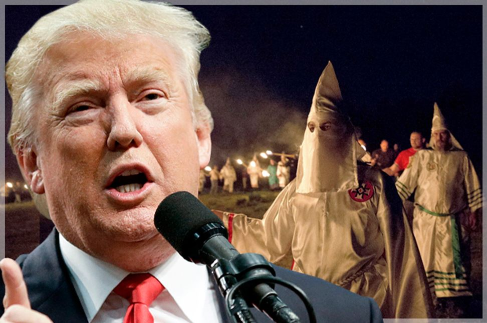 Donald Trump's KKK stamp of approval: The Klan gives a de facto endorsement to the Trump campaign on the front page of its newspaper | Salon.com