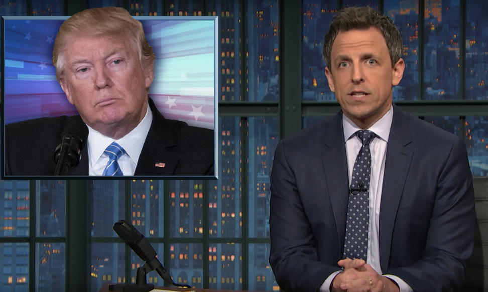 WATCH: Seth Meyers compares Republicans' rough town halls to Trump's golfing weekends