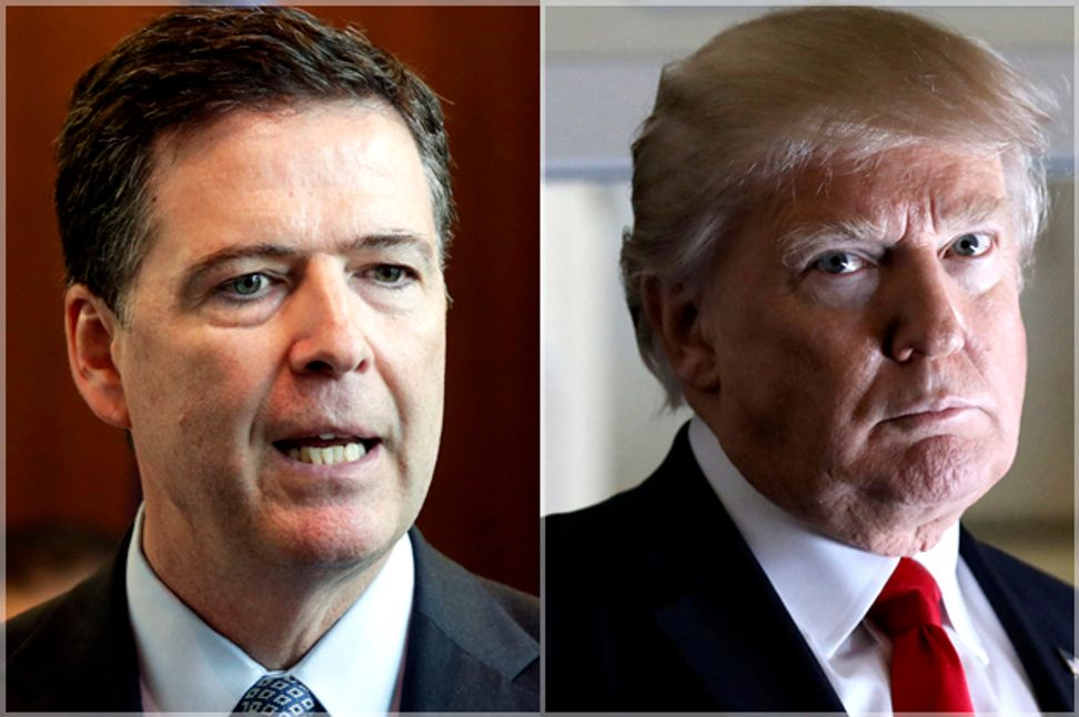 Donald Trump fired James Comey because of the Russia investigations