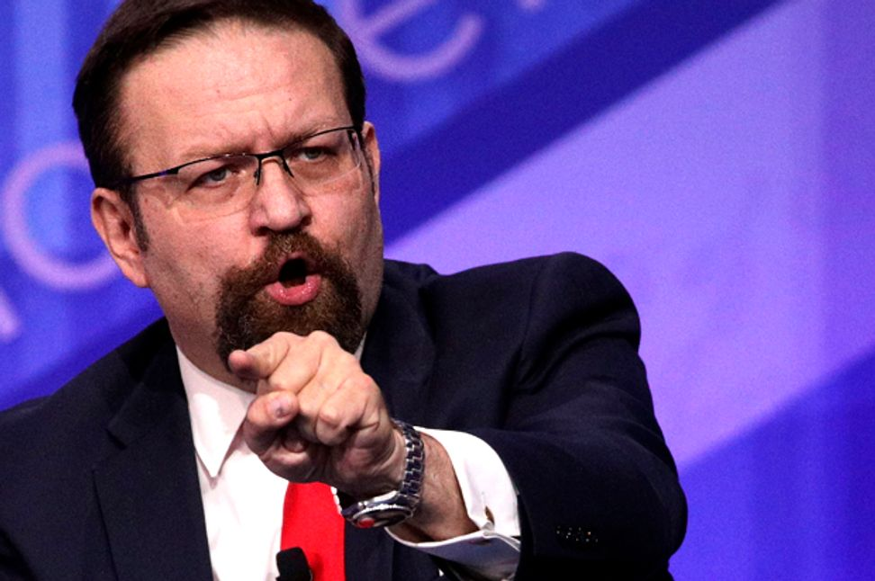Sebastian Gorka once publicly supported a violent anti-Semitic militia