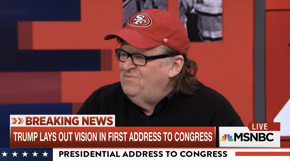 "WATCH: Michael Moore says President Trump's speech ushered in a ""new chapter"" of George Orwell's ""1984"""