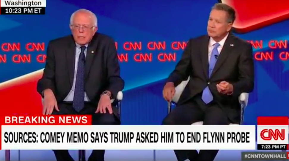 """Bernie Sanders on the """"White House in crisis"""": """"There has never been a president or a candidate who has lied all the time."""""""