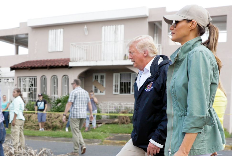 Trump's Puerto Rico spectacle: Ruler deigns to visit stricken peasants