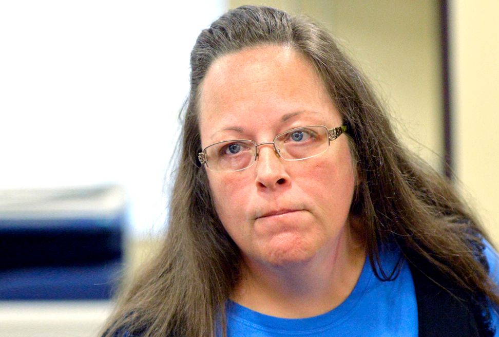 Kim Davis' possible opponent: Man she refused a marriage license